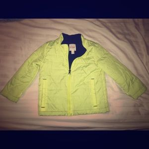 Cat & jack neon jacket size 4T preowned like new